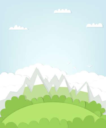 cutout mountain landscape.