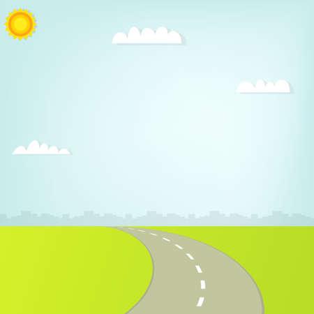 road in city.