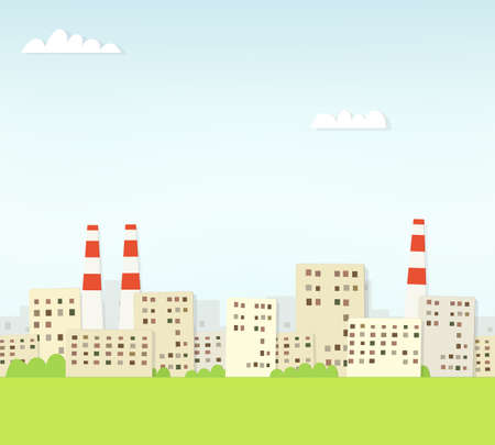 Industrial cityscape. seamless paper pattern Vector