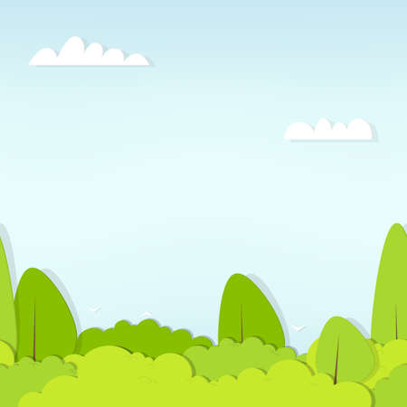 seamless pattern cartoon flat forest 向量圖像