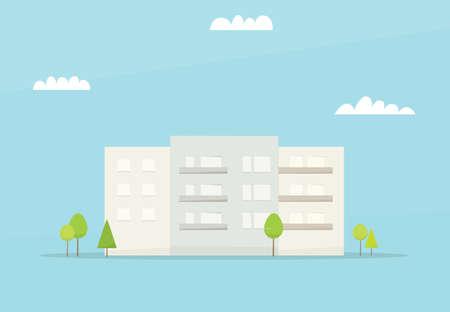 multistorey: Cartoon house. Simple flat image Illustration