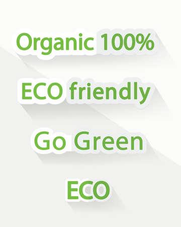 green environment: Environment protection green signs Illustration