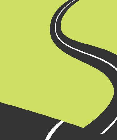 winding: Winding road minimalist poster Stock Photo