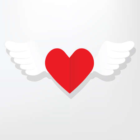 flat: flat heart with wings