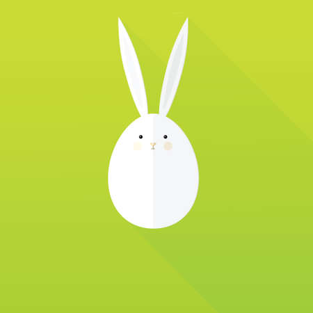 animal ear: flat paper Easter Bunny