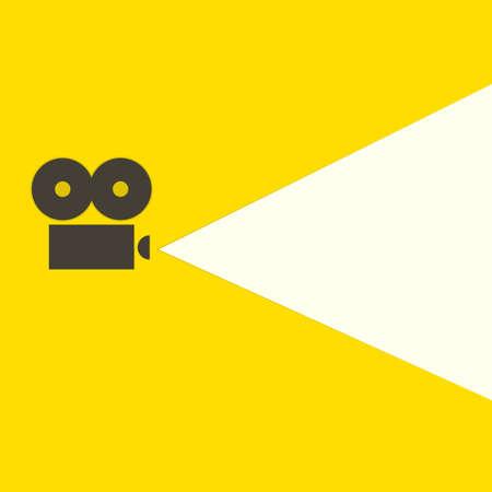 flat video projector icon Illustration