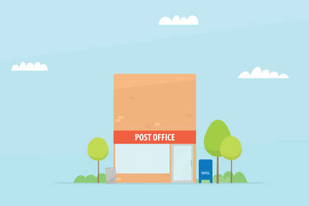 corporate buildings: post office. vector image