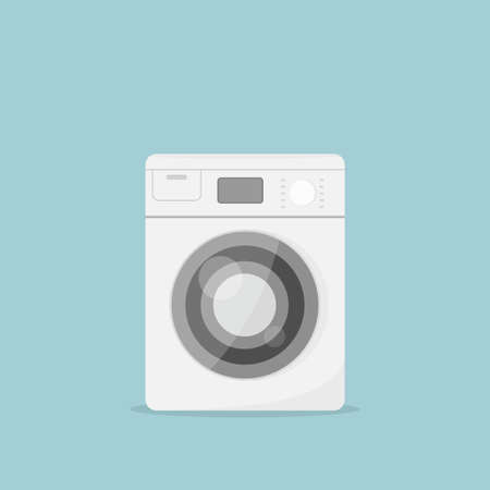 household objects: Cartoon washing machine. vector image