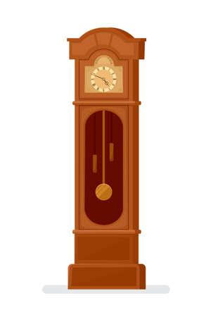 vector grandfather clock