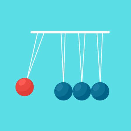 pendulum balls flat vector