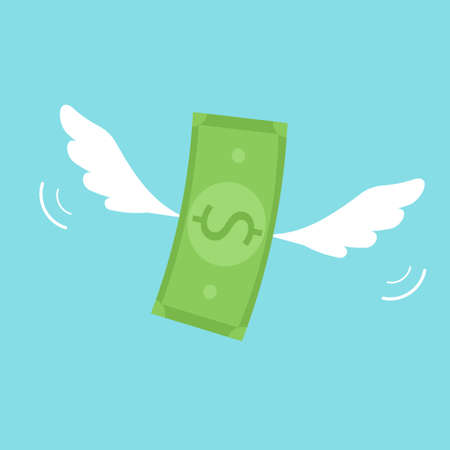 money with wings Illustration