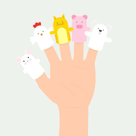 puppets: set of hand puppets Illustration