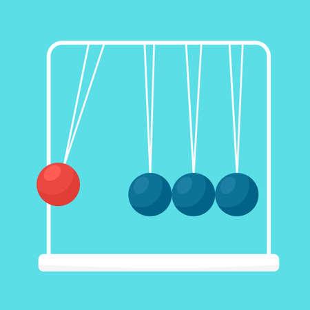 gravedad: Bolas de péndulo vector plano