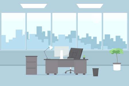 modern office interior. Vector image 版權商用圖片 - 78035245