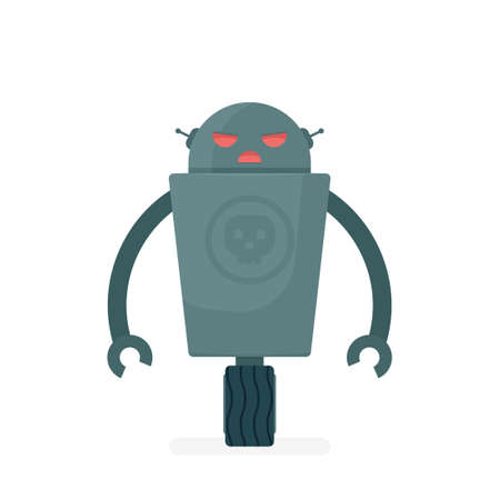 cartoon evil robot character