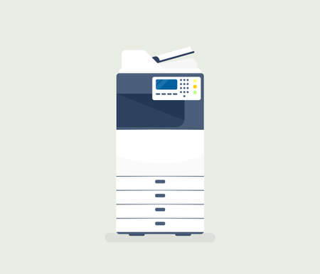 multifunction printer: Office Printer copier Illustration