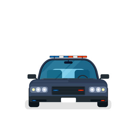 alloy: police car front view Illustration