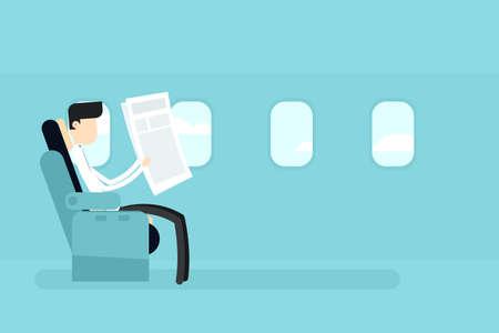 first class plane seat Illustration