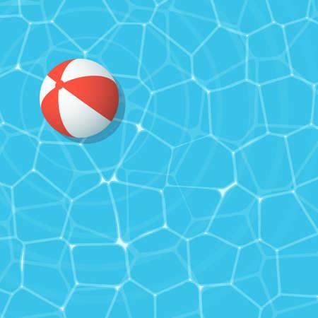 red beach ball Иллюстрация
