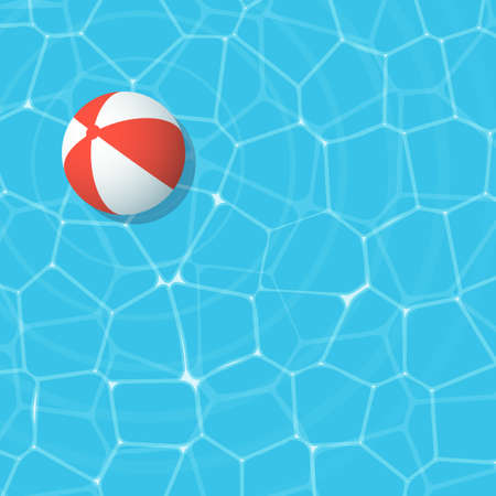 red beach ball Illustration