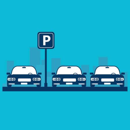 Parking lot vector illustration Illustration