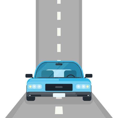 auto op de weg