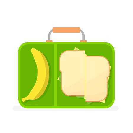 school lunch box Stock Vector - 80089565