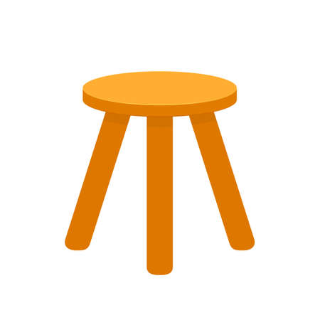 three legged stool Stock Illustratie
