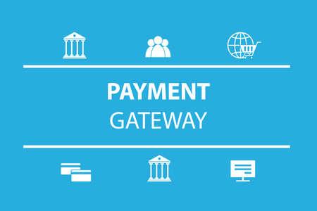 支払いゲートウェイのアイコン  イラスト・ベクター素材