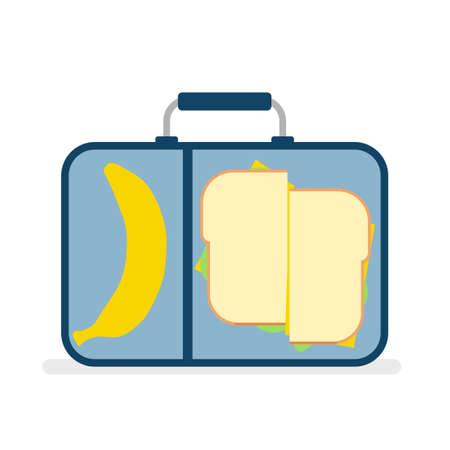 school lunch box Illustration
