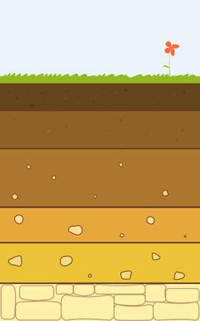 soil layers vector Illustration