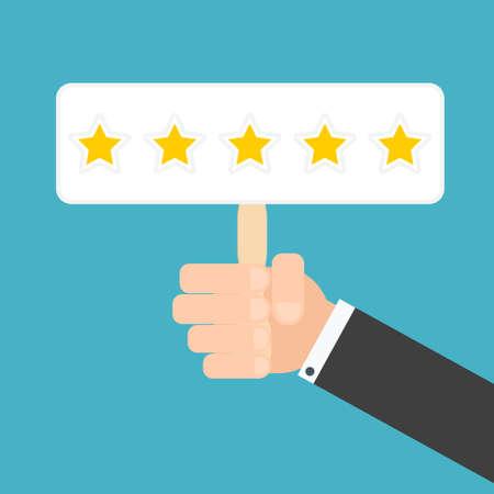 reviews: Customer reviews concept