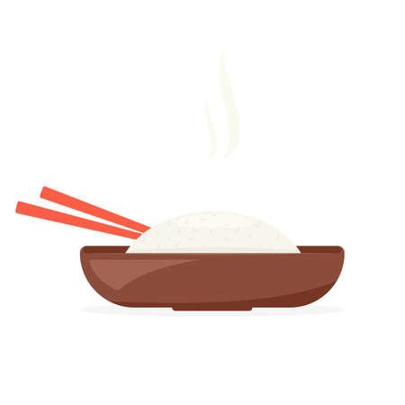 thailand food: full rice plate Illustration