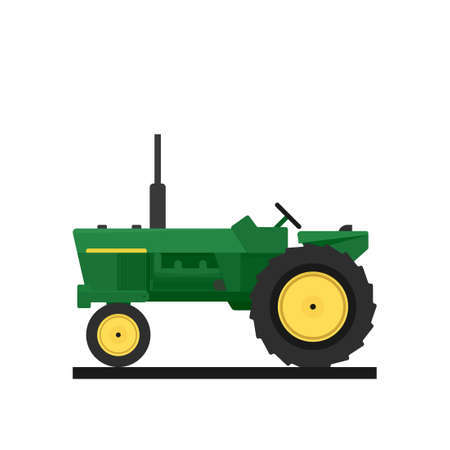 old tractor icon. Vector illustration isolated on white background