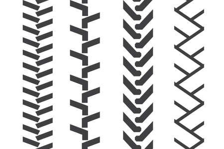 tread: tractor tread set. Vector seamless pattern
