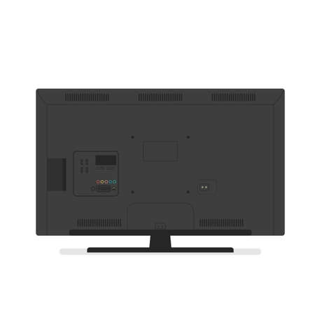 tv back side. Vector illustration isolated on white background Иллюстрация