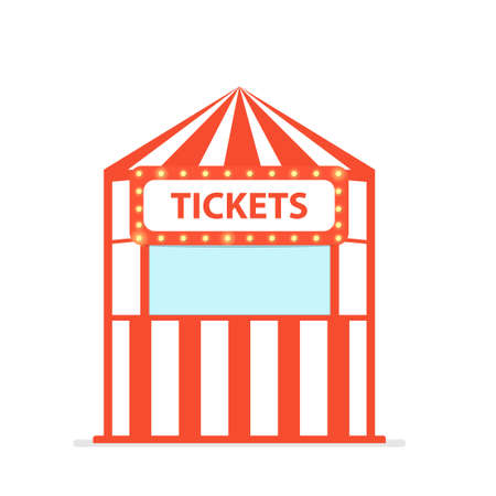 Ticket box office. Vector illustration isolated on white background Illusztráció