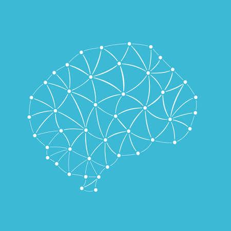 geometric human brain in triangles