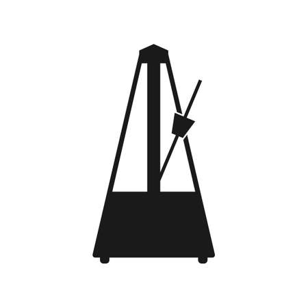Metronome icon. Vector illustration isolated on white background.