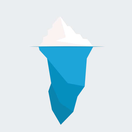 iceberg diagram vector illustration. ice berg icon