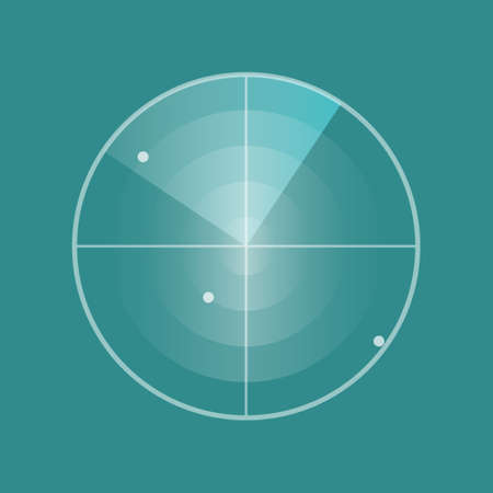 Radar screen icon. Vector illustration