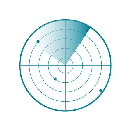 Icône d'écran radar. Illustration vectorielle isolée sur fond blanc