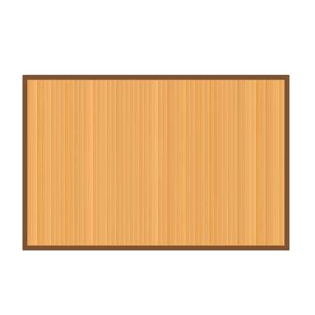 Bamboo mat background. Vector illustration isolated on white background Çizim