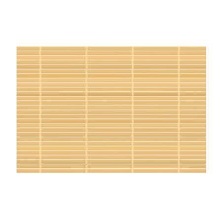 Bamboemat achtergrond. Vectorillustratie geïsoleerd op witte achtergrond Vector Illustratie