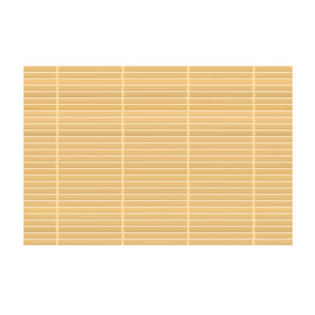 Bamboo mat background. Vector illustration isolated on white background Illustration