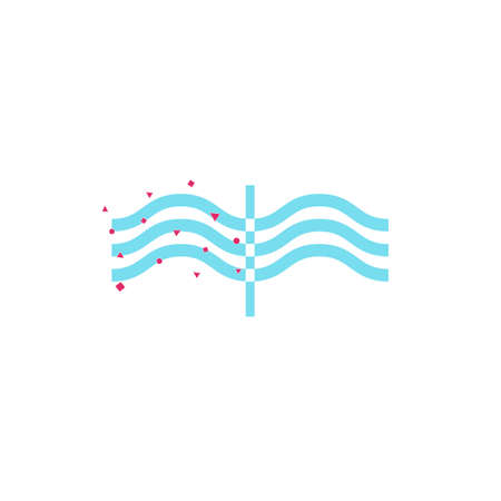 filtering: Water filtration icon on white background. Vector illustration.
