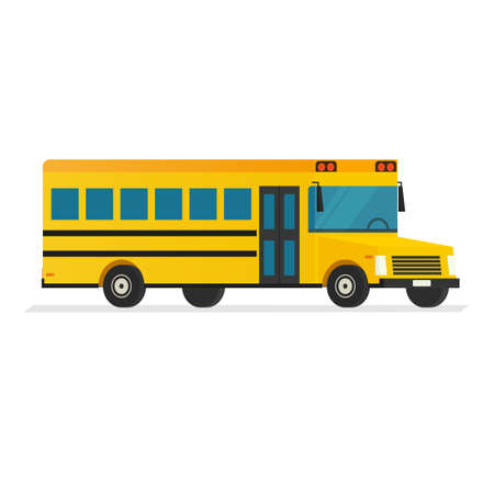 yellow schoolbus: School Bus vector Illustration