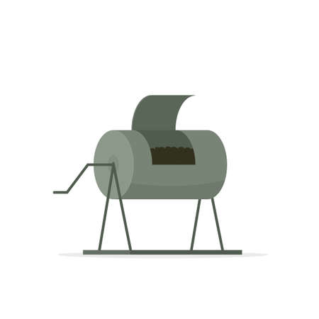 compost container icon 向量圖像
