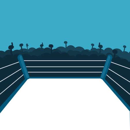 lege boksring Stock Illustratie