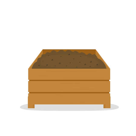 compost pile in wooden box